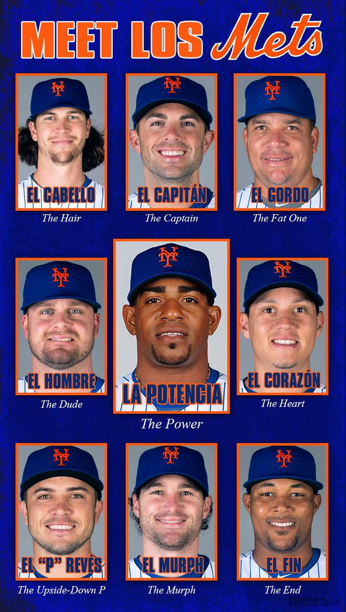 So we all know that @ynscspds is #LaPotencia, but did you know that many other #Mets players have Spanish nicknames? http://t.co/jeXcRt9XtY