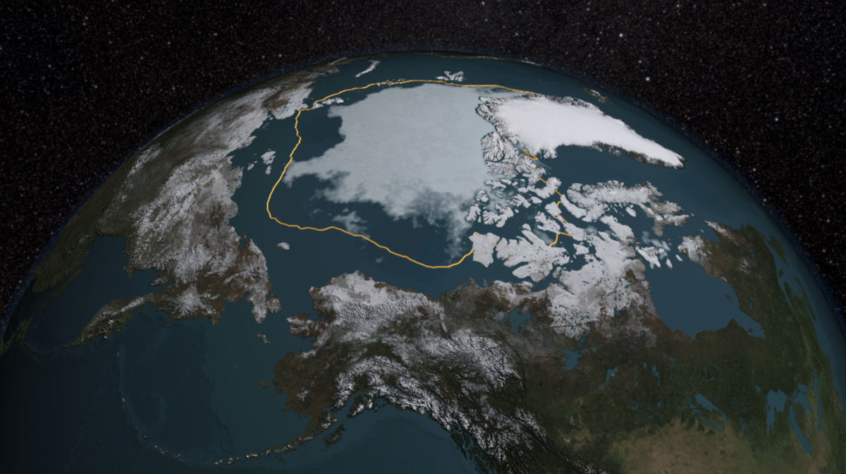 Arctic sea ice has reached its annual minimum extent and it's the 4th lowest on record. http://t.co/M4ermZVAFI http://t.co/cVFhYcn6vj