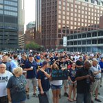Big crowd forming for #StLNFL stadium task force rally before #StLRams #Chiefs game #RocktheDome @FOX2now http://t.co/fpwjO2EAeq