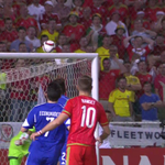 Ramsey sends a wonderful, curled effort just inches over. Cyprus 0-0 Wales. More: http://t.co/uTjWwewSwO #SkyFootball http://t.co/dn9AR5XvW0