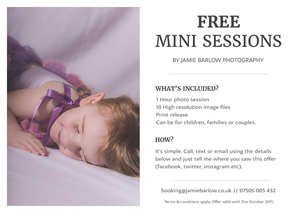 So, who would be interested in free mini photo sessions? #HaltonHour http://t.co/T47ltZPhgR http://t.co/oghSPoakpN