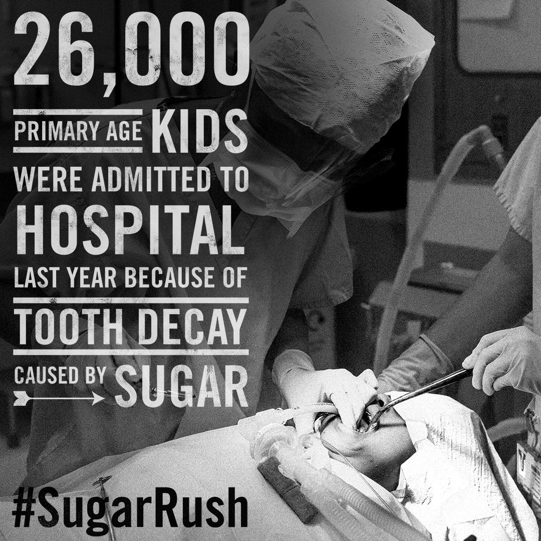 Each year 26,000 primary school aged kids go to hospital because of rotten teeth #SugarRush http://t.co/6xjbaJFj15 http://t.co/Dbh3ahvrqC