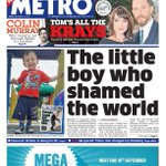 Fridays Metro front page: The little boy who shamed the world #AylanKurdi #tomorrowspaperstoday #bbcpapers http://t.co/BMb3oReZSc