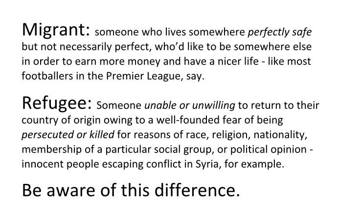 Refugee or Migrant? http://t.co/g2yx3xYOsN