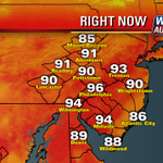 HOTTEST DAY OF THE YEAR 96 DEGREES RIGHT NOW IN #PHILLY AND DAY 5 OF 5TH #HEATWAVE @FOX29PHILLY http://t.co/4hiorCRlzC