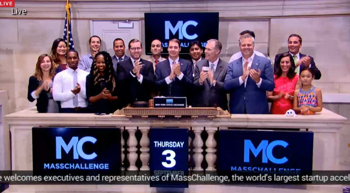 5k jobs, $947M+ in funding, 617 #startups. MC was thrilled to celebrate success with the @NYSE today. http://t.co/K2rWf7wphS
