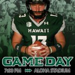 It's #GameDay ! The Rainbow Warriors are ready to play! Kickoff vs. Colorado set for 7 pm. #HawaiiFB #GoBows! http://t.co/KB3aZPfitE