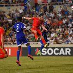 FT Cyprus 0-1 Wales. Wales remain top of Group B thanks to an incredible header from Bale. http://t.co/R6FyDCPTix http://t.co/xN9EEnNzYG