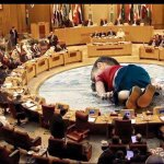 THIS image goes viral throughout Arab world pointing blame at Arab League countries for death of countless innocents http://t.co/maXS3P5ZEs