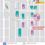 September 3 - Stadium Parking Program time restrictions in place and paid parking @ Lot 9 (Dana btwn Hope and View). http://t.co/cKAcB63bXt