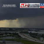 A looming storm is drifing near the Palm Beach Intl Airport, where this @CBS12 camera is looking #cbs12wx http://t.co/TCgc2Jbruw