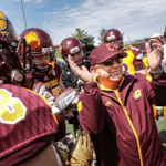 CMU hosting Oklahoma St on @ESPNU. Its head coach is battling cancer and living out his dream: http://t.co/mjp6D7HxnE http://t.co/5K11KId9hw