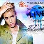 RT YOUFLOP RT sunriseon7: .justinbieber will PEFORM LIVE on sunriseon7! And you can win tickets to see him! … http://t.co/zkQW5VJkHT