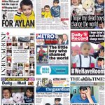 A flavour of Fridays UK newspaper front pages #tomorrowspaperstoday #bbcpapers #AylanKurdi http://t.co/aJrCDRBonX