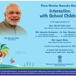 PM Shri @narendramodi  to interact with School Children today http://t.co/alDovJSGQc