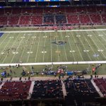 """This photo of the Edward Jones Dome """"crowd"""" was taken at 6:59 not long before opening kickoff for Rams-Chiefs #stlnfl http://t.co/e3i2cU32EV"""