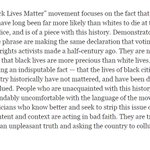 """NYTs editorial board weighs in on the """"Black Lives Matter""""/""""All Lives Matter"""" culture war. http://t.co/TeWFChzpDG http://t.co/CRRSOdVT7K"""