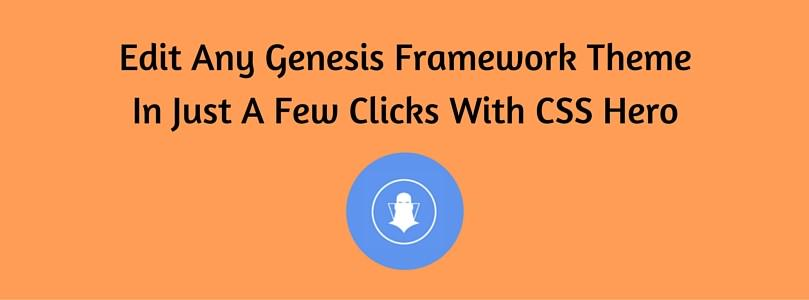 How To Edit Any Genesis Framework Theme In Just A Few Clicks With CSS Hero http://t.co/9DcijthaRJ http://t.co/Ez5REEFrji