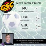A goal by McInnis helped guide the @SHCBADGERS to a 2OT battle vs. Tampa. Check out todays GSC Mens Soccer results. http://t.co/DI5W6dx5SR