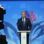 На Восточном экономическом форуме слушаю выступление Президента страны #ВЭФ #Путин http://t.co/lk9EL7FLd0