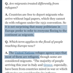 """Heres why some government officials keep calling the refugees """"migrants."""" Its wrong. http://t.co/VkQCEQqfKQ http://t.co/atU5MuWpkf"""