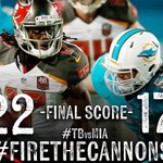 #FireTheCannons - #Bucs win! Tampa Bay ends the preseason on a high note with a win in Miami! #TBvsMIA http://t.co/9u8vZcTvSR