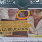 """.@mauriciomacri publica afiches """"defendiendo la educación pública"""" con una foto tomada en la #ORT (privada) #Magic http://t.co/ULiuZpjXLj"""