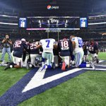 Battle on the field, give thanks after #HOUvsDAL http://t.co/BM4Y3g1KcQ