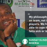 An optimistic @SundayOOliseh heads into his first game against Tanzania [via @Jololade] http://t.co/PO3ZvvEAk9 http://t.co/ELAdNl8Qfh