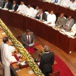 Minister Kabir Hashim taking oaths as the new Minister of Public Enterprise Development #lka http://t.co/uAwjGalo6t