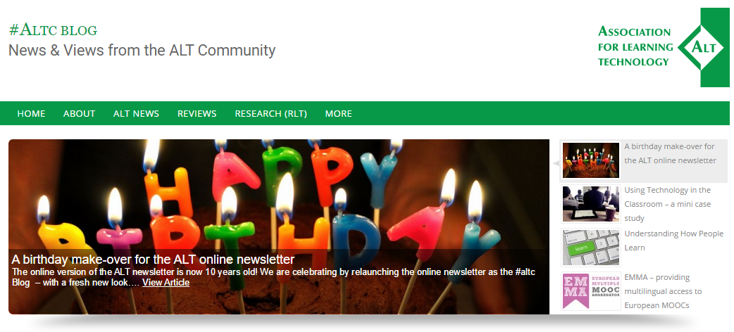 Happy birthday! RT @A_L_T: At 10 yrs old - ALT Online Newsletter is now #ALTC Blog https://t.co/SrAWiiIslx http://t.co/E83jIKL3Le