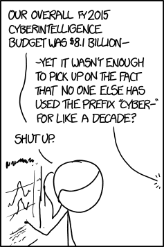 FAO 'citizen cyberscience', e-anything RT @xkcdComic: Cyberintelligence http://t.co/8EQ2M60ph0 http://t.co/3w9pHRIX68 http://t.co/Et2iTNW6Sl