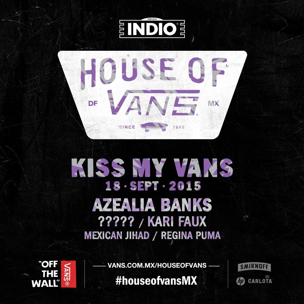 Mañana regalaremos entradas para #HouseOfVansMx: Kiss My Vans. 1er requisito para ganar: RT http://t.co/GBGsgxUgPH http://t.co/aIT0Gm9qjW