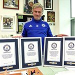 Jose Mourinho was awarded four certificates by the Guinness World Records...#CFC #SpecialOne.. http://t.co/9TwWIubKRG