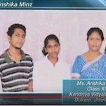 PM Shri @narendramodi interacting with Ms. Anshik Minz on the eve of #TeachersDay http://t.co/gNq2SlwM9I