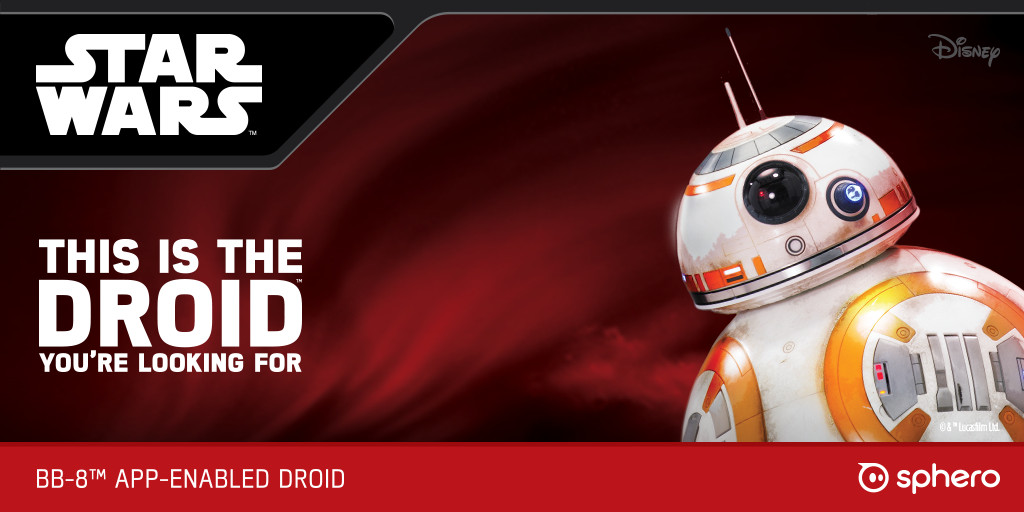 This is the Droid you're looking for. Meet #BB8. The online store is live! http://t.co/Ehn69yj8Zn http://t.co/VCh0b3g6z9