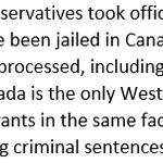Conservatives view migrants as criminals. #cdnpoli #elxn42 http://t.co/ZiOU5SvLtJ http://t.co/ZBuuAW7kUQ
