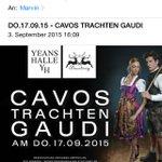 Cancel sofort alle Termine @kesseltv #gaudi #cavos #Stuttgart #trachten http://t.co/Z9K0kjDkxJ