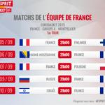 Le planning des matchs des Bleus au premier tour de l#EuroBasket2015 ! ???? @FRABasketball http://t.co/DU3qWcy9QT