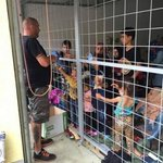 #Syrian families fled the war- now imprisoned in a cage in #Hungary Shame on you #EU-member #RefugeesWelcome http://t.co/KZsgYyC1jz