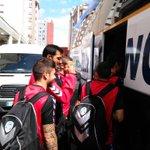 El @CDeportivoLugo arranca su viaje. El equipo descansará hoy en Bilbao. #CDMvLUG http://t.co/hx8RBBJDXB