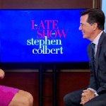 ICYMI: @LisaLive5 talks to Stephen Colbert ahead of new hosting gig! WATCH> http://t.co/d2gx3XqYTg #chsnews http://t.co/qWdG72ZVaD