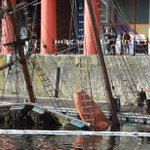 Salvage operation to help raise sunken Albert Dock ship the Zebu is under way http://t.co/Wr6WjtyKxT http://t.co/sOebCrP6yw