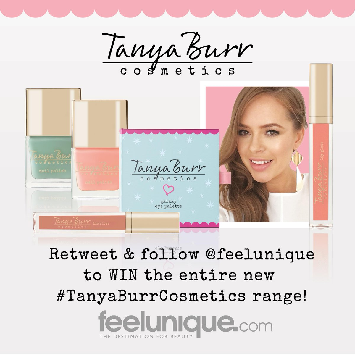 We're giving away 5 full sets of the new #TanyaBurrCosmetics range! Just RETWEET & FOLLOW us for the chance to #WIN http://t.co/Z0BPTnNjrE