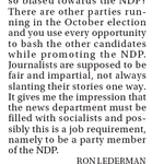 """Sun reader complains paper is """"promoting the NDP"""" & wonders if news department is """"filled with socialists"""" #cdnpoli http://t.co/MLeXexNub3"""