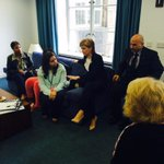 FM @NicolaSturgeon meets refugees who have sought sanctuary in Scotland. http://t.co/BQijq159Th