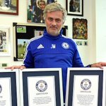 Mourinho bags five Guinness Book of Records certificates http://t.co/i1dzM69t0A @ChelseaFC @premierleague @GWR http://t.co/06JWsXZPi0