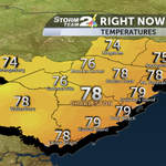 Already approaching 80 in many areas. Low to mid 90s this afternoon, much cooler for the weekend. #chswx @WCBD http://t.co/UScH9Tkphv