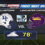 A few clouds and a stray shower possible for #FridayNightRivals. Catch the game tonight on MY TV Central PA. #FNR http://t.co/tPgiamF1B4