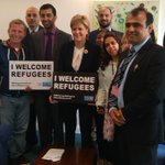 Our staff & refugee representatives meet First Minister @NicolaSturgeon & @HumzaYousaf at refugee summit today http://t.co/dHxHortzxA